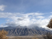 First snow of the season on the Sandia's!