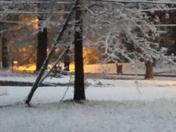 It's snowing in Northeast Jackson