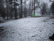Snow in the yard