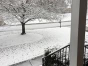 Snow covering street