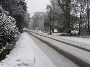 Snow covered roads Ponchatoula