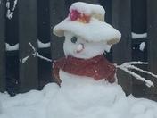 snow lady at Greystone farms