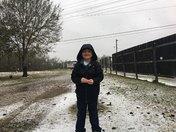 snowing in Houma
