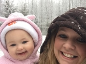 Oaklyn's first snow