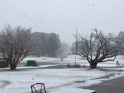 Afternoon snowfall at Lake Toccoa
