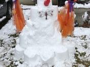 ice castle snowman
