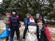 Neighborhood snowman