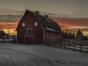 Vintage Barn on the Alberta Prairies