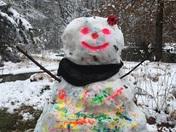 MIran da and Mya''s 2017 snowman