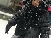 Daylah's reactions to seeing snow for the 1st time 🎀😱❄️☃️❄️ð