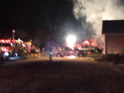 House fire on Elam Way this morning.