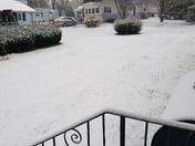 Our first snow fall in Brookfield mass