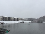Snow at Century Lake Park in Kernersville 2017-12-09