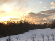 Snowy Table Rock sunset