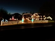 Christmas light display on 40th street in Springdale
