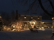 First snow and Christmas lights 2017