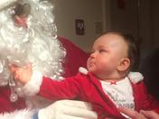 Olivias first time meeting Santa