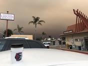 Pismo Beach So Cal Fire Smoke