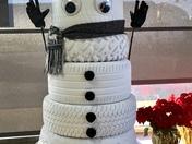 Our Tire Snowman