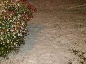 Snow sticking