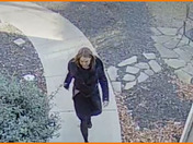 Person pictured is stealing boxes left on our front porch.