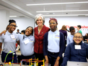US Congresswoman Katherine Clark Inspired by BRCPS Students at Thermo Fisher HQ