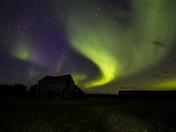 Lady Aurora over the Saskatchewan Prairie