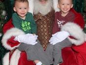 The boys see Santa!