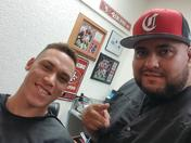 I'm so proud of my brother Terry Cano Jr. who works at Port city barber shop here in Stockton.