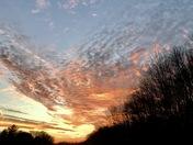 Orange swirly clouds