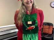 Kathryn Whitaker celebrates National Ugly Christmas Sweater Day!