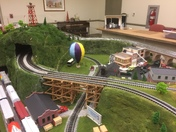Trains are at the Paradise Township Building Saturdays 10 to 4 and Sundays 1 to 4.