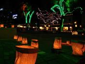 Taos Plaza lights