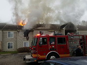 River Pointe apartment fire in Middletown today