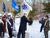 Presenting a Wreath at Wreaths Across America