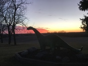 Prehistoric sunset in Runnells, IA