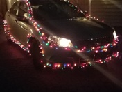 This is my car I decorated for Christmas.