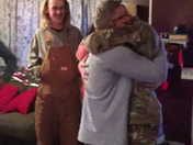 Son returns home from basic training and AIT