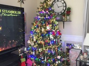 Our tree here in ocala12/2017 happy holidays Happy Hanukkah merry Christmas happy new year