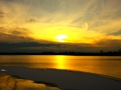 Sunset on first ice
