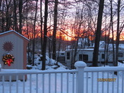 Christmas Eve Sunrise on 12.24.17 at 7:06 am. 19 Hilltop Dr. Milford, NH