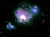 Picture Of M42 Orion Nebula & M43 Runnig Man Nebula