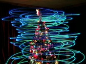 Christmas Tree Drone Light Painting