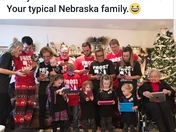 Best picture ever of your typical Nebraska family at Christmas!