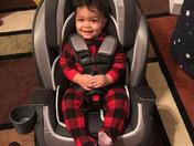Jaylen Davis in his big boy car seat from Santa!