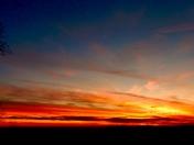 Beautiful winter sunset off Paris Mt.