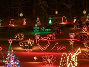 Christmas lights at La Salette Shrine in Enfield