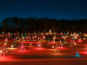 Christmas lights at La Salette Shrine in Enfield