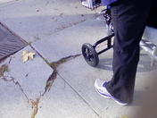 Damaged sidewalks