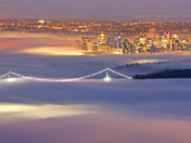 Inversion fog over Vancouver Centre